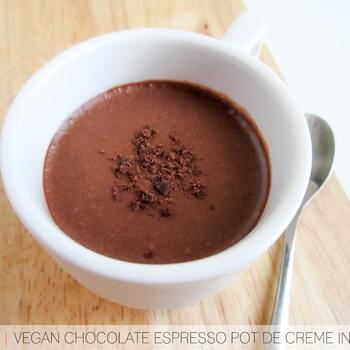 RECIPE | (Vegan!) Chocolate Espresso Pot de Creme In A Mug