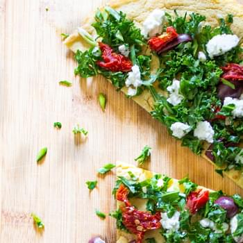 With Sundried Tomatoes, Kale and Feta