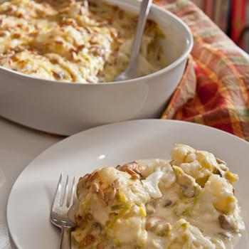 Leek, Mushroom, and Cauliflower Casserole