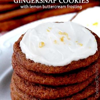 Sweet Basil - Gingersnap Cookies with Lemon Buttercream Frosting