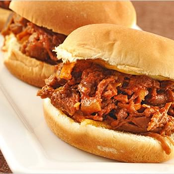 Orange-Barbecue Brisket Sliders