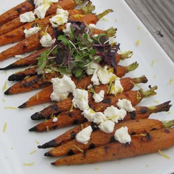Grilled Carrots and Goat Cheese