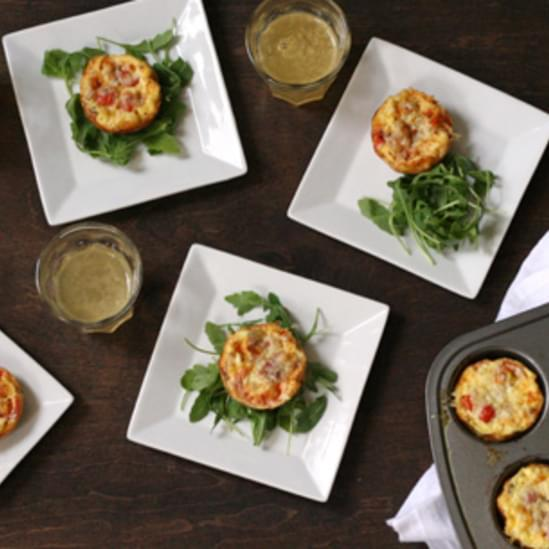 Mini Bacon and Tomato Quiches