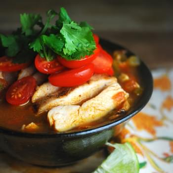 South by Southwest Chicken Soup