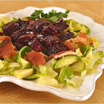 Brussels Sprout, Bacon and Roasted Beet Salad