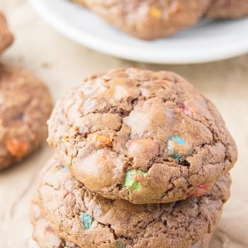 M&M Chocolate Crackle Cookies