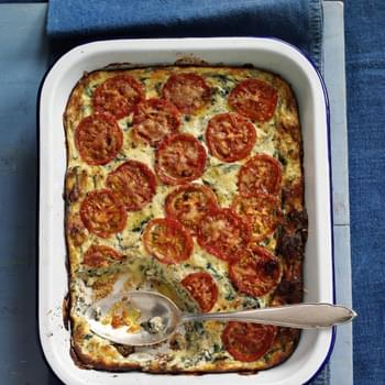 Chard, Tomato And Ricotta Bake