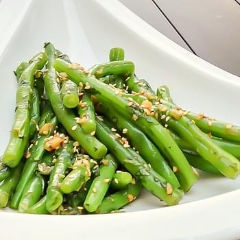 Green Beans with Ginger Soy Dressing