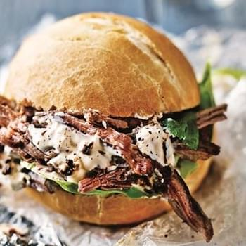 Slow-cooked Beef Buns With Smoked Chilli Sour Cream
