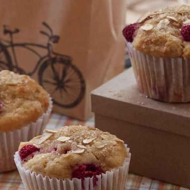 Pear And Raspberry Muffins