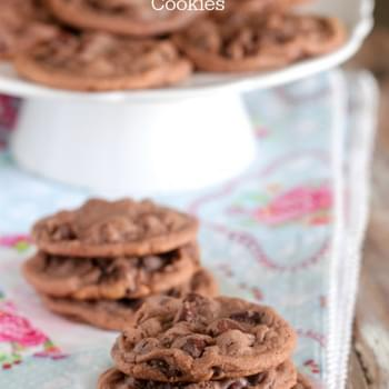 Chocolate Malted Chip Cookies