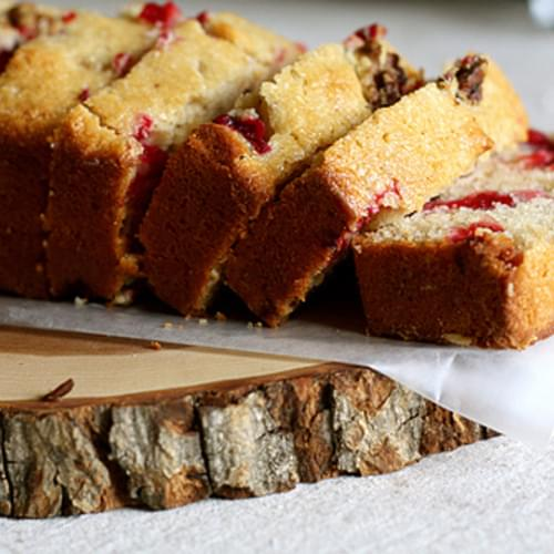 Honey Cranberry Cornmeal Quick Bread