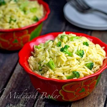 Three Cheese Orzo with Broccoli