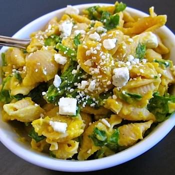 Butternut Squash Pasta With Blue Cheese