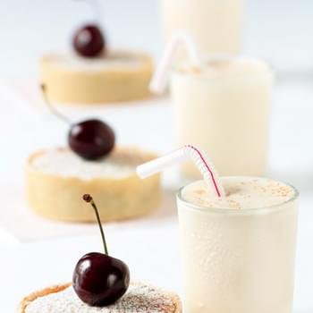 Cherry Bakewell Tartelettes With Cherry Pit Ice Cream Milkshakes