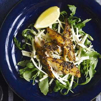 Smoked Mackerel With Celeriac And Rocket Salad