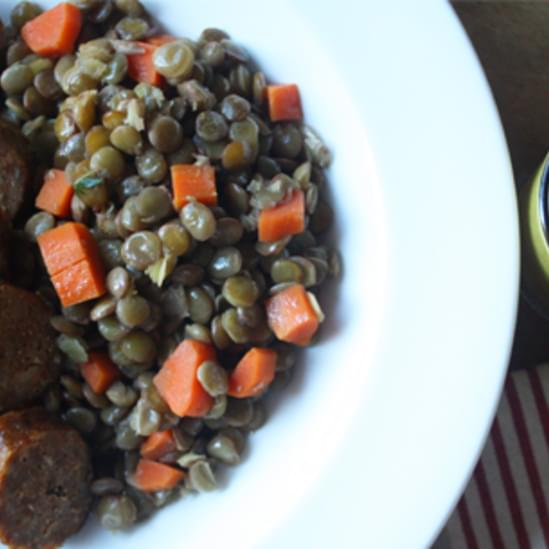 Smoky Sausage with Lentils