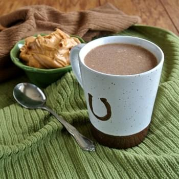 Slow Cooker Hot Chocolate with Peanut Butter