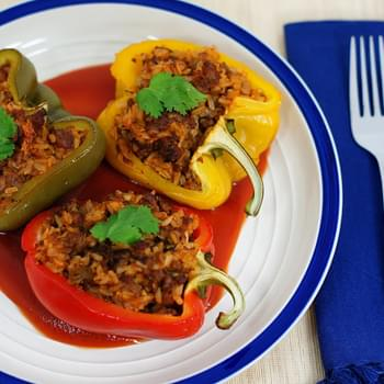 Mr. John's Meat-Stuffed Bell Peppers