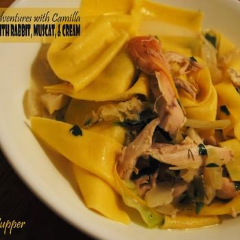 Fennel Frond Pappardelle with Rabbit, Muscat, & Cream for #SundaySupper
