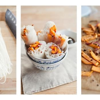 {Sweet Chili} Roasted Sweet Potato Spring Rolls