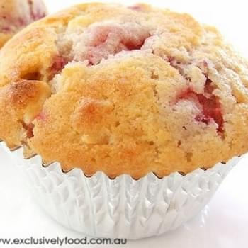 Strawberry, Raspberry and White Chocolate Muffin