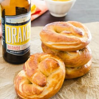Beer Soft Pretzels with Maple Mustard Sauce