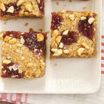 Salty Peanut Butter and Jelly Blondies
