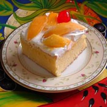 Tres Leches Cake with Mango Garnish