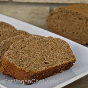Fat Free Whole Wheat Vegan Banana Bread