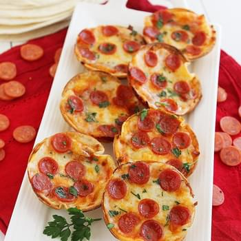 Easy Mini Tortilla Pizzas