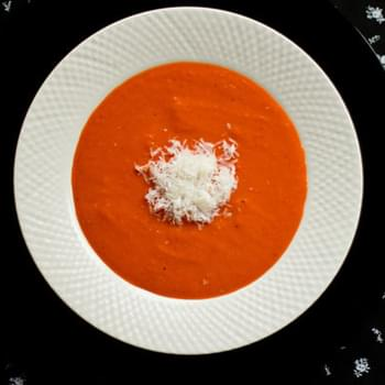 Spicy Sweet Red Pepper Soup