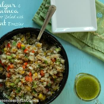 Bulgur & Quinoa Salad with Mint Dressing