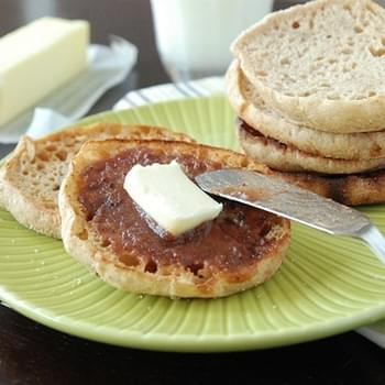 Whole Wheat Honey English Muffins