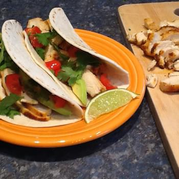 Oven Broiled Chicken Breast Tacos