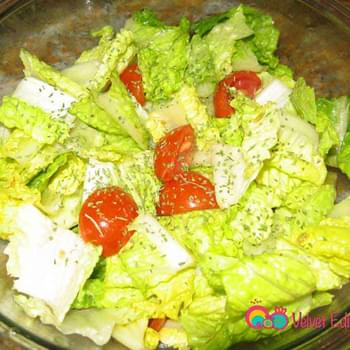 Garden Salad with Lemon and Mint Dressing
