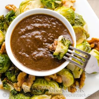 Roasted Brussels Sprouts with Raisin Vinaigrette