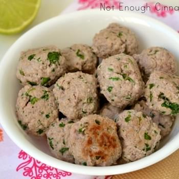 Creamy Coconut Meatballs {paleo friendly – gluten free}