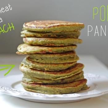 Popeye Pancakes | Whole Wheat, Banana & Spinach Pancakes for Picky Toddlers