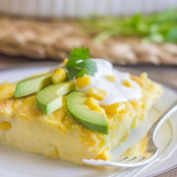 Green Chile Egg Bake Made With Greek Yogurt