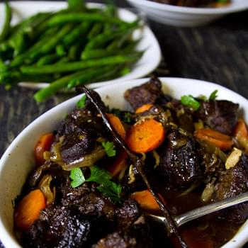 Slow Cooked Port & Vanilla Beef Cheeks