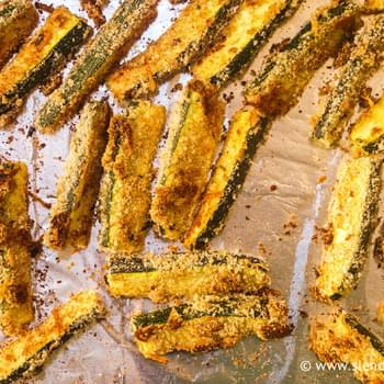 Oven Baked Parmesan Zucchini Fries