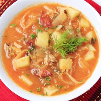 Cabbage Soup With Sausage & Potatoes
