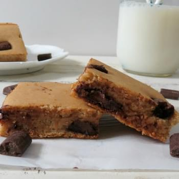 Chocolate Chip Bean Blondies