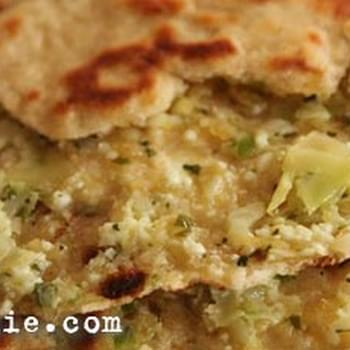 Cabbage and Peas Paratha