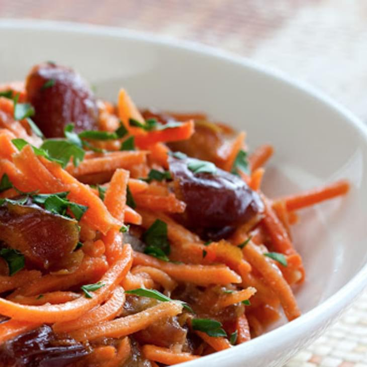 Gingered Carrot and Medjool Date Salad