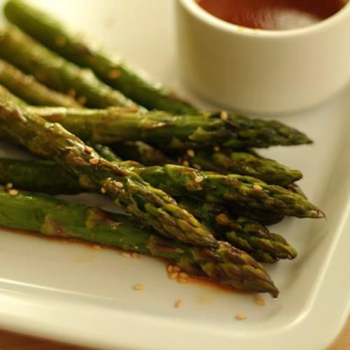 Asparagus with Sesame Citrus Dressing