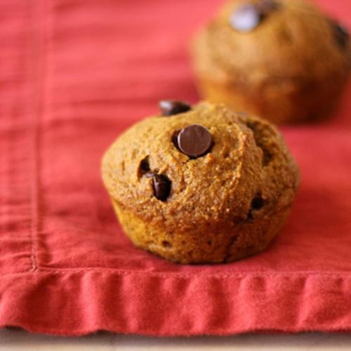 Vegan Pumpkin Muffins with Chocolate Chips
