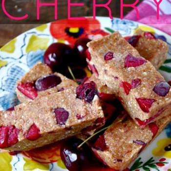 Cherry Almond Butter Bars (gluten free & vegan option!)