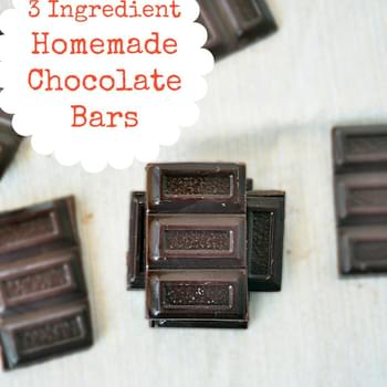 3 Ingredient Chocolate Bars